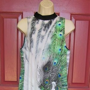 Unusual Clover Canyon Sleeveless Peacock Dress